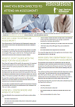 Have you been directed to attend an assessment? Factsheet PDF 181 kB