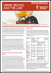 Drink Driving and the Law Factsheet PDF 242 kB