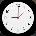 Clock showing nine o clock