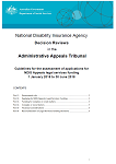 Guidelines for the Assessment of Applications