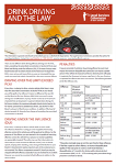Drink Driving and the Law Factsheet